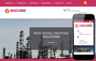 Machine a Industrial Category Flat Bootstrap Responsive web template