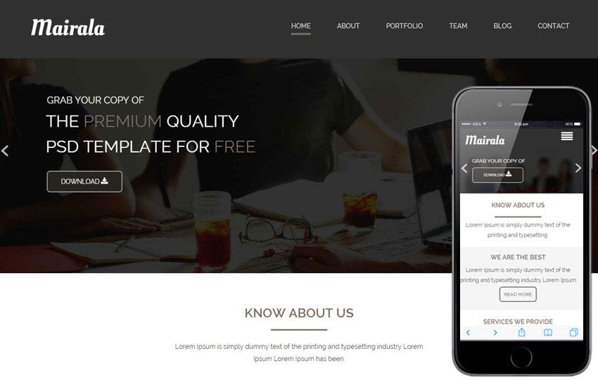 Mairala a Corporate Agency Flat Bootstrap Responsive web template