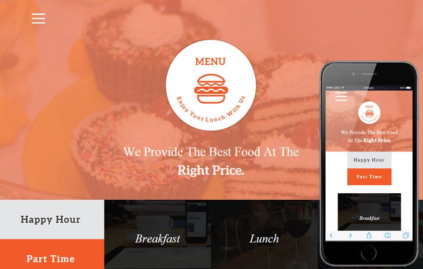 Menu a Restaurant Flat Bootstrap Responsive web template Mobile website template Free