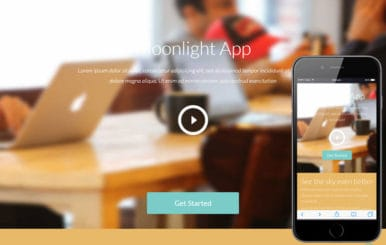Moonlight a Mobile App based Flat Bootstrap Responsive web template