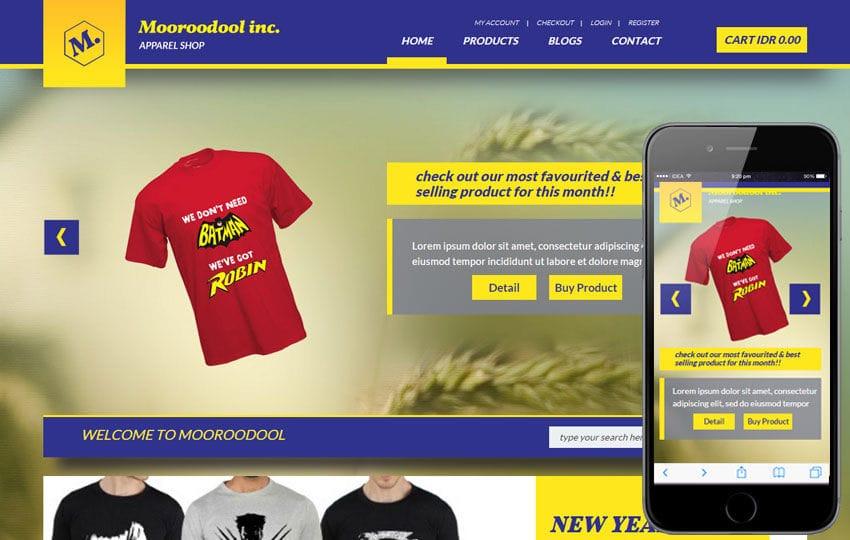 Mooroodool a Flat Ecommerce Bootstrap Responsive Web Template