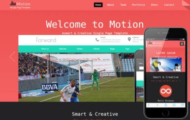 Motion a Personal Portfolio Flat Responsive Web Template