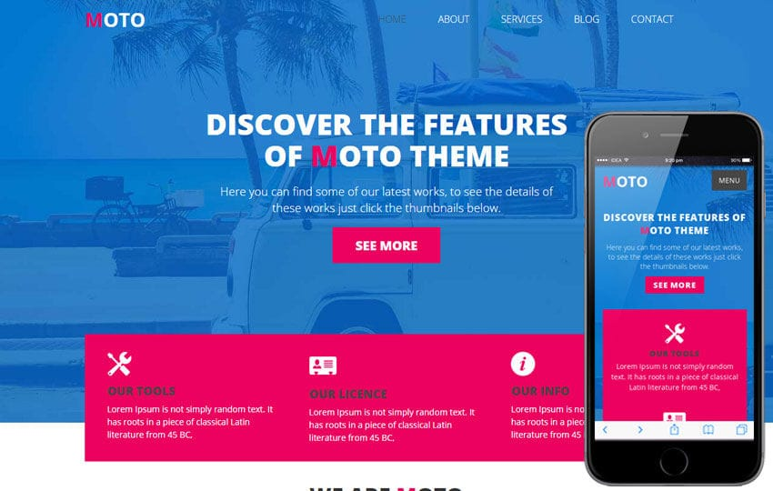 Moto a Transport Category Flat Bootstrap Responsive Web Template Mobile website template Free