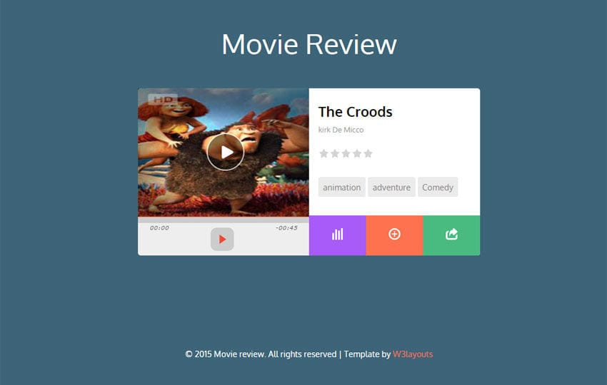 Movie Review Responsive Widget Template