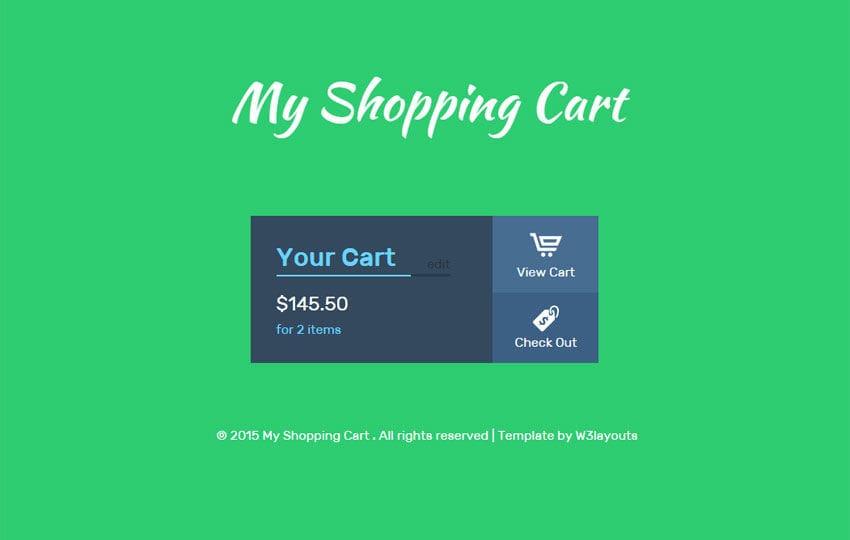 My Shopping Cart Responsive Widget Template