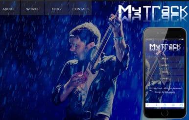MyTrack personal portfolio Mobile Website Template