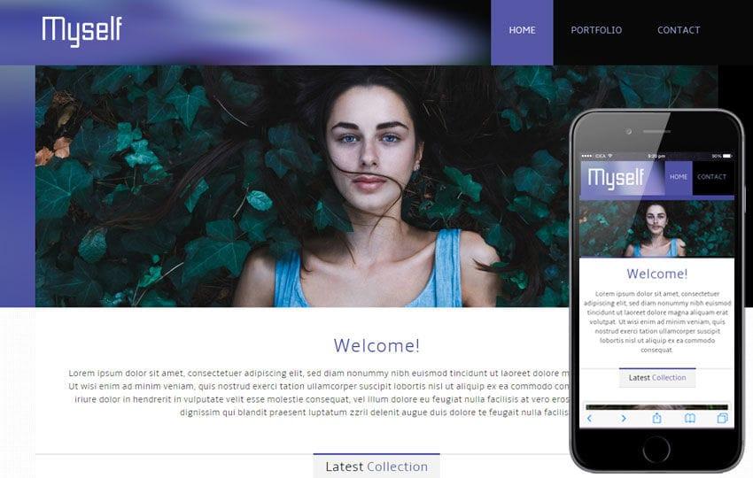 Myself personal portfolio Mobile Website Template