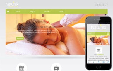 Naturex Beauty Parlour Mobile Website Template