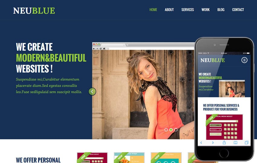 Neu Blue a Corporate Multipurpose Flat Bootstrap Responsive web template
