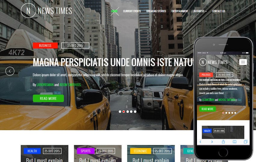 News Times a Entertainment Category Flat Bootstrap Responsive Web Template Mobile website template Free