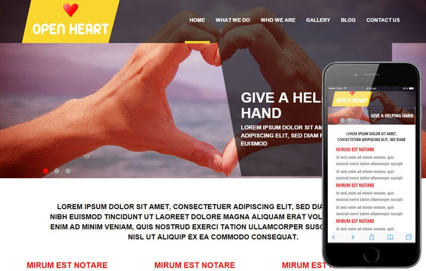Open Heart a Charity Category Flat Bootstrap Responsive web template Mobile website template Free