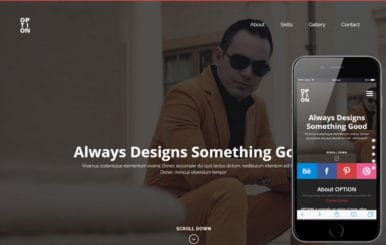 Option a Personal Portfolios Flat Bootstrap Responsive Web Template