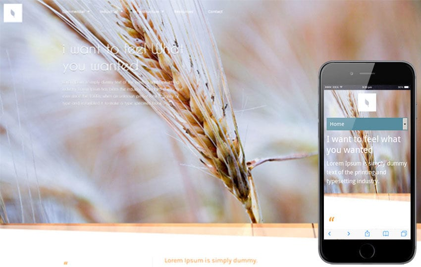Organic corporate Responsive Mobile Website Template