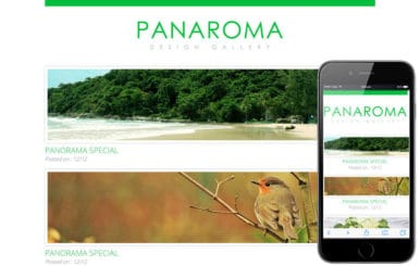 Panaroma web and mobile website template for free