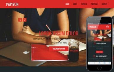 Papiyon a Corporate Portfolio Flat Bootstrap Responsive web template