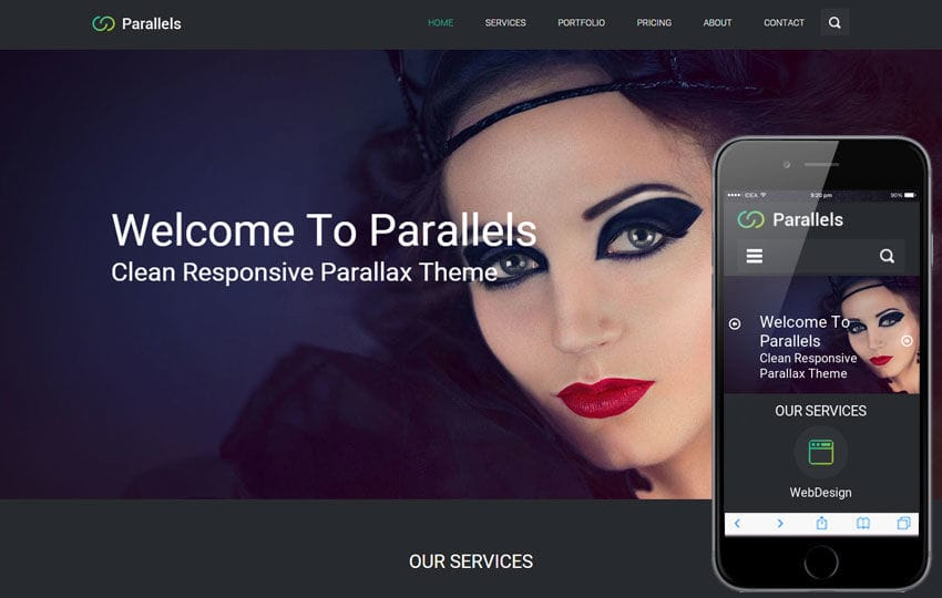 Parallels a Flat Corporate Responsive web template