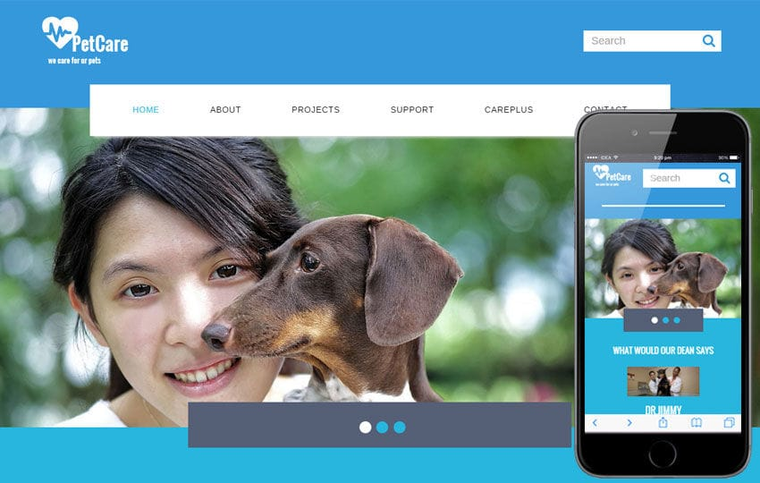 Pet Care a Animal Category Flat Bootstrap Responsive Web Template Mobile website template Free