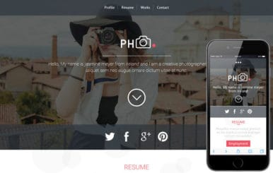 PH CV a Photographers Portfolio Flat Bootstrap Responsive Web Template