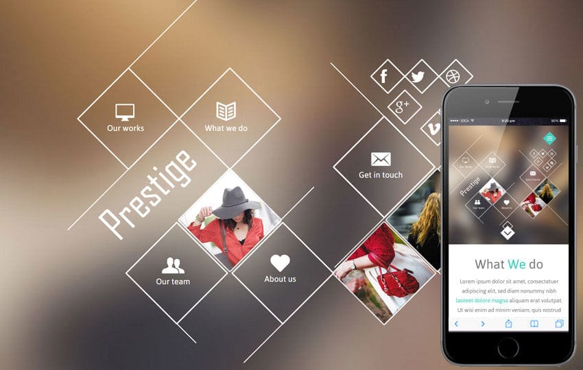 Prestige a Fashion Category Flat Bootstrap Responsive Web Template Mobile website template Free