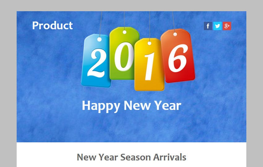 Product a New year Season Newsletter Responsive Web Template Mobile website template Free