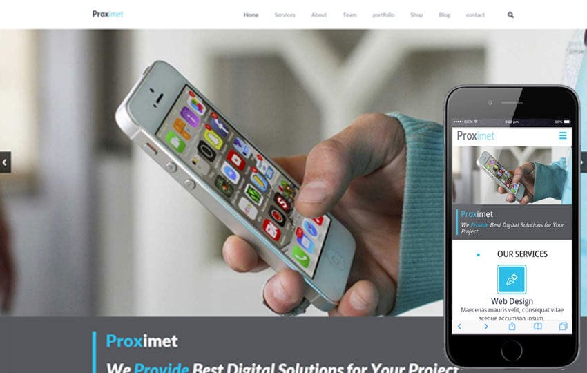 Proximet a Singlepage Multipurpose Flat Bootstrap Responsive web template Mobile website template Free