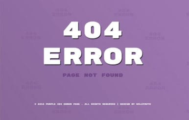 Purple Error Page Responsive Widget Template