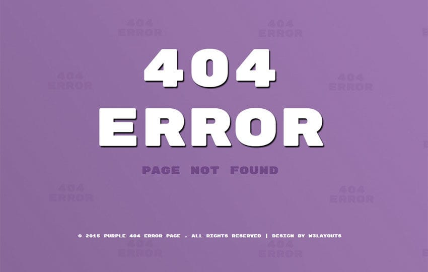 Purple Error Page Responsive Widget Template Mobile website template Free