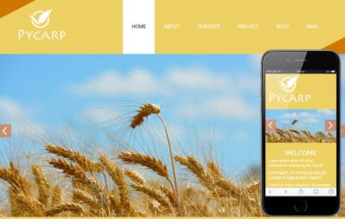Pycarp a Agriculture Category Flat Bootstrap Responsive web template