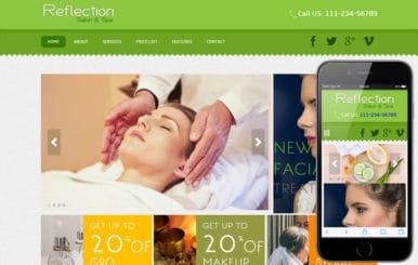 Reflection Beauty Parlour Mobile Website Template