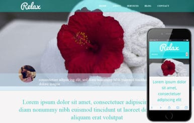 Relax beauty spa Mobile Website Template