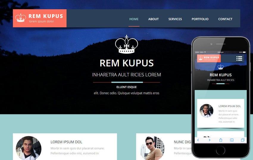 Rem Kupus a Multipurpose Flat Bootstrap Responsive Web Template