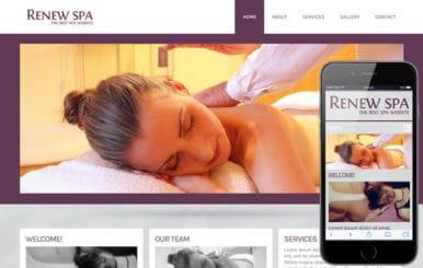 Renew Spa Beauty Parlour- Mobile Website Template