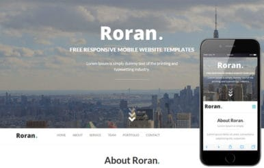 Roran One Page Flat Responsive web template