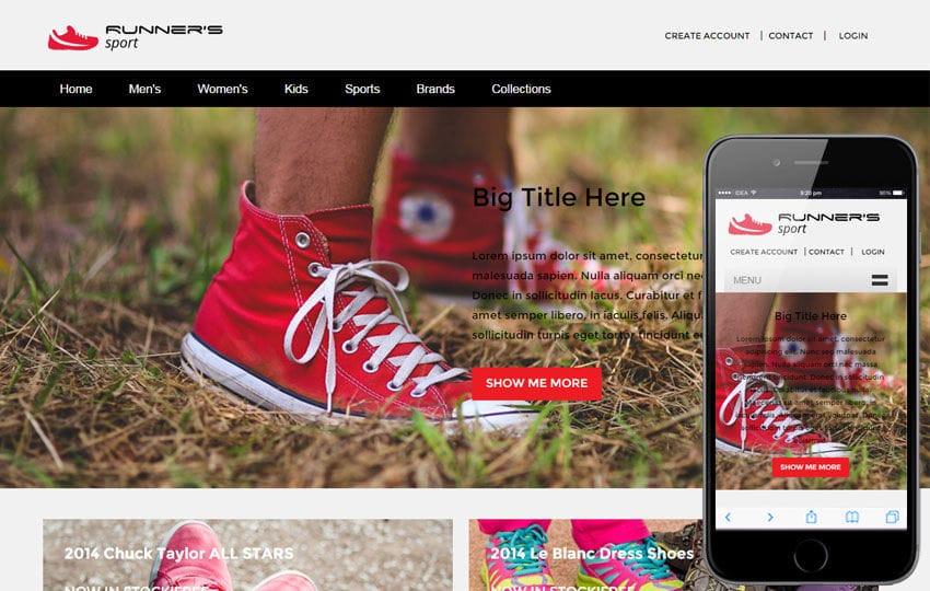 Runner Sport a Flat Ecommerce Bootstrap Responsive Web Template