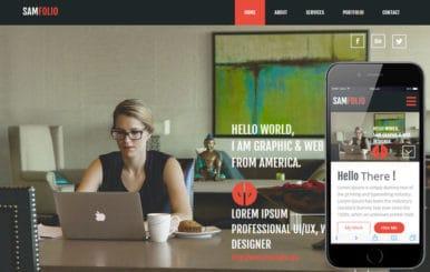 Sam Folio a Onepage Portfolio Flat Bootstrap Responsive Web Template