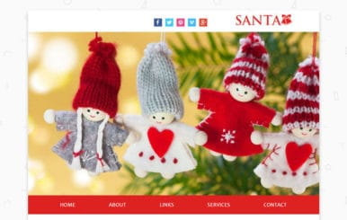 Santa a Newsletter Responsive Web Template
