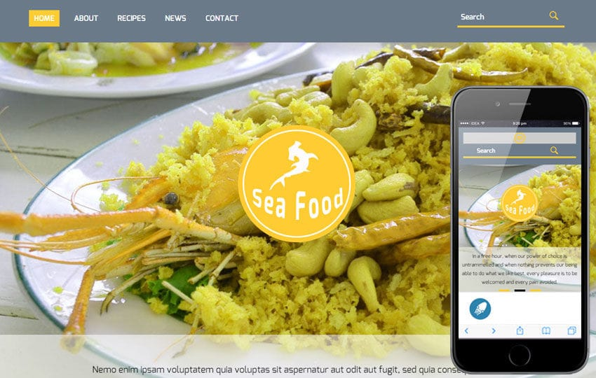 Sea Food a Hotel Category Flat Bootstrap Responsive Web Template