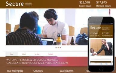 Secure Corporate Business Mobile Website Template