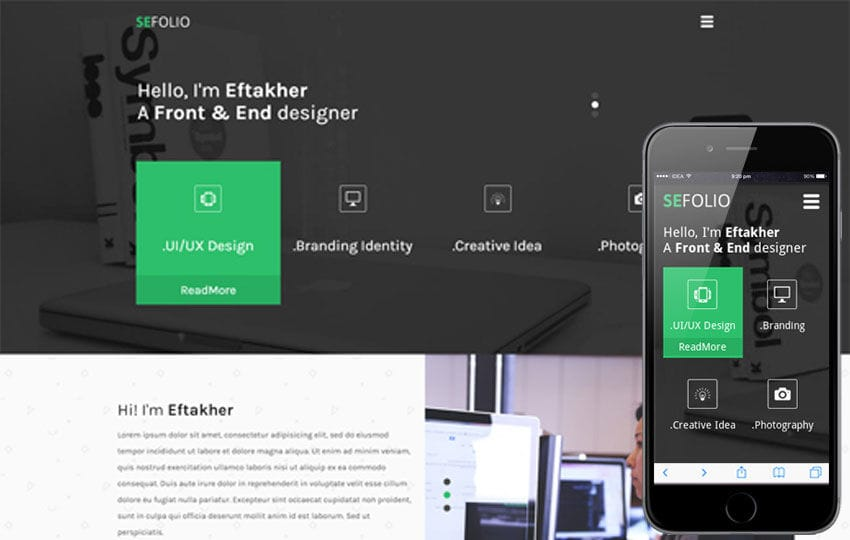SeeFolio a Personal Portfolio Flat Bootstrap Responsive Web Template Mobile website template Free