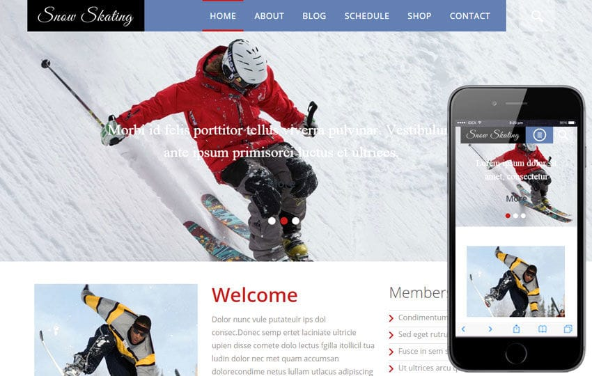 Snow Skating a Sports Category Flat Bootstrap Responsive web template Mobile website template Free