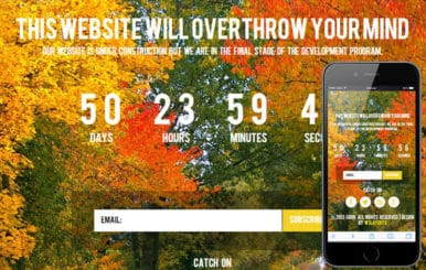 Soon Under Construction Mobile Website Template