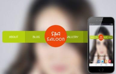 Spa Saloon Beauty Parlour Mobile Website Template