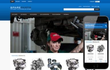 Spare Parts Automobile Mobile Website Template