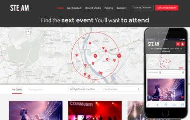 Steam Music Flat Responsive Web Template