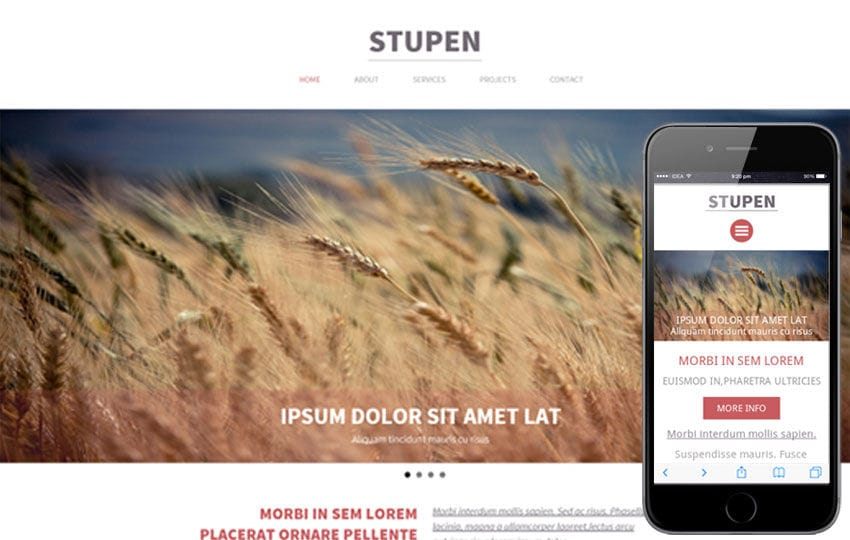Stupen a Single Page Multipurpose Flat Bootstrap Responsive web template