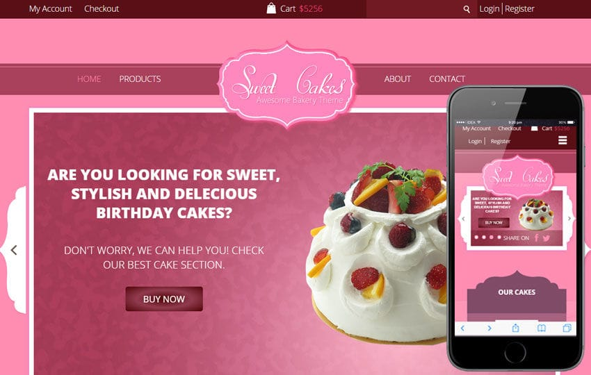 Sweet Cakes a Food Category Flat Bootstrap Responsive web template Mobile website template Free