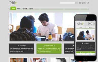 Talkie Corporate Business Mobile website Template