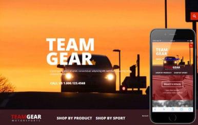 Team Gear a Flat ECommerce Bootstrap Responsive Web Template