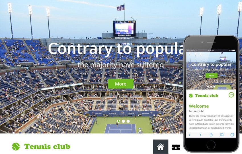 Tennis a Sports Category Flat Bootstrap Responsive Web Template