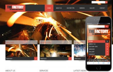 The Factory- Industrial Mobile Website Template
